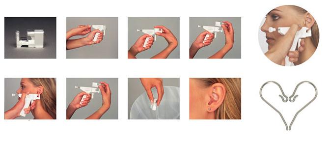 Blomdahls ear piercing